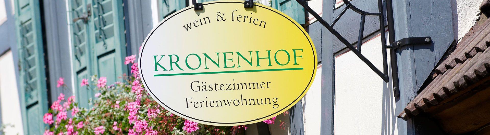 Weingut Kronenhof - Gästehaus